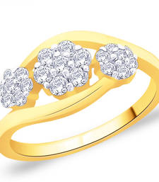 Buy Gold Cubic Zirconia rings engagement-ring online
