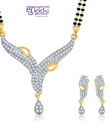 Buy Sukkhi Classic Traditional Gold and Rhodium plated CZ Mangal Sutra Set  mangalsutra online