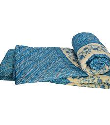 Buy Jaipuri Block Printed Cotton Double Bed Quilt jaipuri-razai online