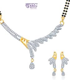 Buy Sukkhi Graceful Gold and Rhodium plated CZ Mangal Sutra Set  mangalsutra online