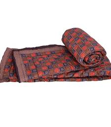 Buy Ethnic Bagru Hand Block Cotton Double Quilts jaipuri-razai online