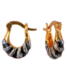 Buy Sparkles Black Earrings hoop online