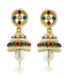 Buy Pearls Studded Jumar Earrings jhumka online