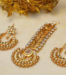 Buy Passa Earrings Set Gold maang-tikka online