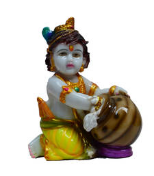 Buy Colorful Makhan Chor Statue housewarming-gift online