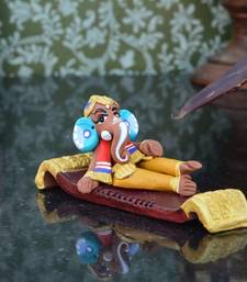 Buy Teracotta Resting Lord Ganesha congratulation-gift online