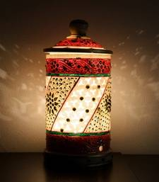 Buy Embossed Red-White Marble Lamp table-lamp online