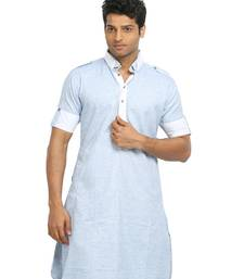 Buy cool blue cotton_poly kurta_pyjama kurta-pajama online
