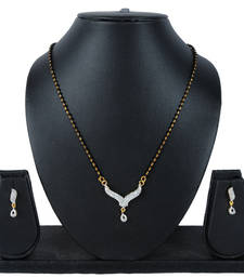 Buy Luxor AD Studded Simple Mangalsutra Mother's day special mangalsutra online