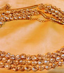 Buy royal traditional wedding kundan zircon  gold platted belly waistbelt waist-belt online