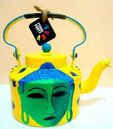 Buy Shades of Buddha-Yellow and seagreen tea-kettle online