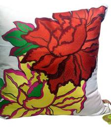 Buy Reme Embroidered Floral Cushion Cover pillow-cover online