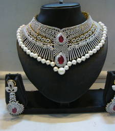 Buy Design no. 12.1564....Rs. 27950.....Pre order set... will be made in 20 days after payment. necklace-set online