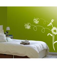 Buy bee and flowers - wall art wall-decal online