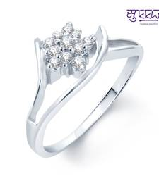 Buy Sukkhi Fancy Rhodium Plated CZ rings(170R280) Ring online