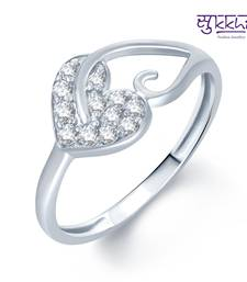 Buy Sukkhi Pleasing Rhodium Plated CZ rings(179R250) Ring online