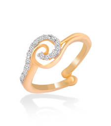Buy Gold Cz Adjustable Size Rings Ring online