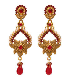 Buy Maroon danglers-drops danglers-drop online
