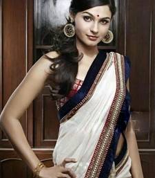 White Saree shop online