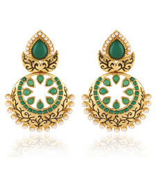 Buy Majestik Gold plated Antique Earring danglers-drop online