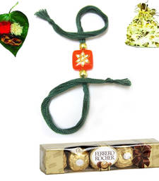 Buy Exclusive Supreme Royal Rakhi pack with chocolate rakhi-with-chocolate online