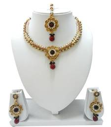 Buy Flower Neckless Set necklace-set online