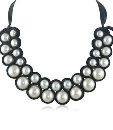 Buy Modern Black and White Pearl Necklace Necklace online