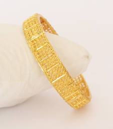 Buy Gold Plated Thick Kada Bangle eid-jewellery online