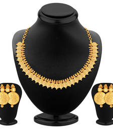 Buy Elegant Gold Plated Temple Jewellery Necklace Set necklace-set online
