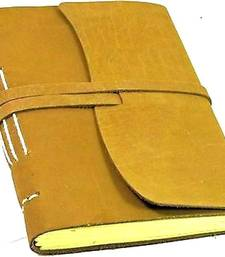 Buy Handmade Paper Notebook  (20 x 15 cm) with fine leather cover congratulation-gift online