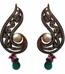 Buy Paisley shaped multi coloured fashion earring Other online