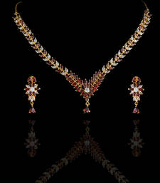 Buy BEAUTIFUL STONE STUDDED NECKLACE SET necklace-set online