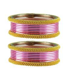 Buy Pink color Brass bangle bangles-and-bracelet online