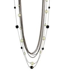 Buy Layered Chain Necklace Black Color Necklace for Women Necklace online