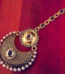 Buy Blue Cubic Zirconia maang-tikka eid-jewellery online