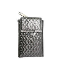 Buy Quilted Mobile Cover (Light Silver) wallet online