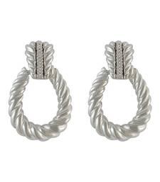 Buy Teardrop Silver Drop Earring for Women danglers-drop online