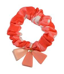 Buy Orange Fabric Hair Rubber Band for Women Other online