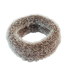 Buy Plain Brown Fabric Hair Rubber Band for Women rubber-hair-band online