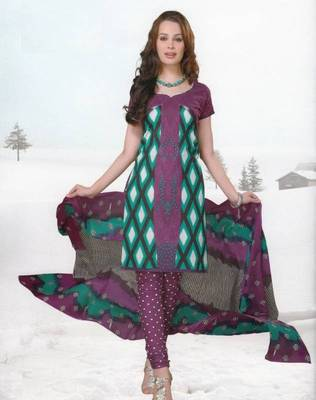 Dress material cotton designer prints unstitched salwar kameez suit d.no var7010