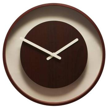 3046br- Wood Loop  Brown Color Clock for Any Room Home or Office