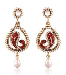 Buy Traditional Gold Plated Jewellery Earrings For Women danglers-drop online