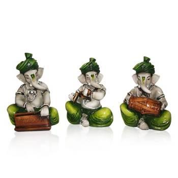 Diwali coroporates gifts Set of 3 Instrumental Ganesha