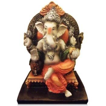 Ganesha sitting on Singhasan