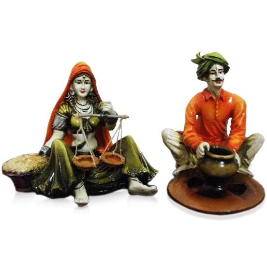 Buy Set Of 2 Rajasthani Couple Online