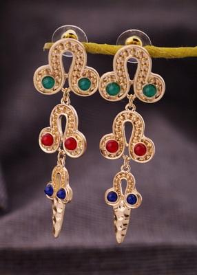 Hand-hammered earrings