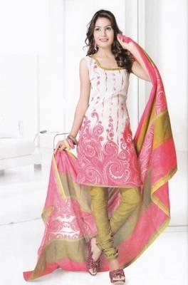 Dress material cotton designer prints unstitched salwar kameez suit d.no b10001