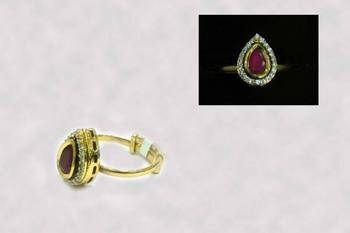 Ruby with Zircon Ring