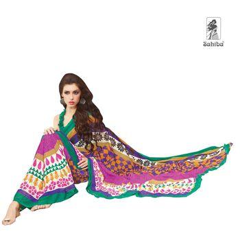 Party Wear Sari Kaju4726