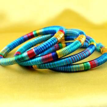 bangle kara hand made rajasthani strechable with free size